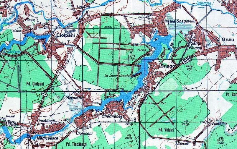 Harta Lacului Snagov