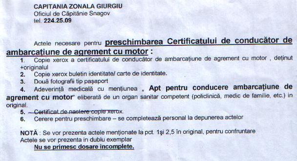 acte preschimbare certificat conducator